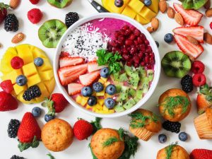 fruit and muffins and rice macronutrients